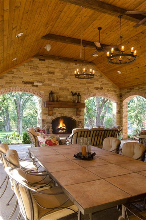hill country style traditional patio oklahoma