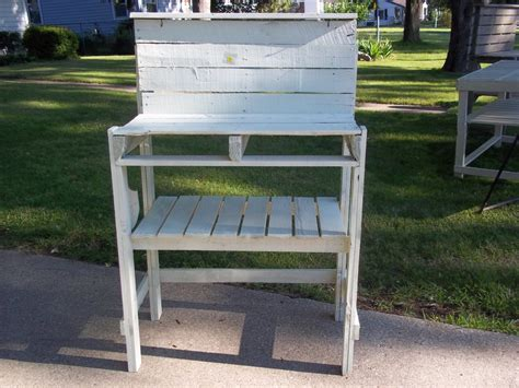 potting bench reclaimed pallet wood finewoodworking