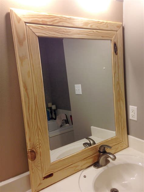 with wooden frame diy easy framed mirrors diystinctly made