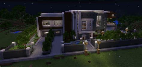 modern mansion creation minecraft pe maps