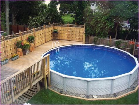 ground pool landscaping ideas deshouse