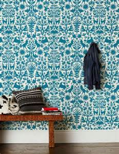 Hygge and West Otomi Wallpaper Turquoise