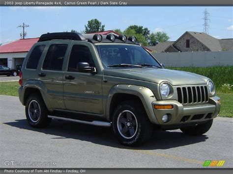 green jeep renegade 2003 jeep liberty renegade 4x4 in cactus green pearl photo