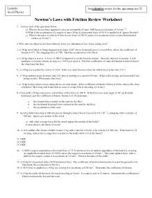 Newton's Laws Worksheet Answers