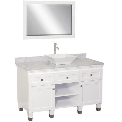 premiere single vessel sink vanity white bathgemscom