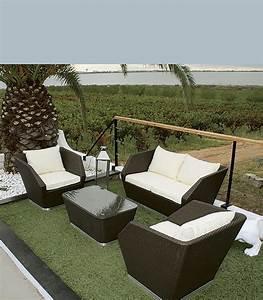 Salon De Jardin Terrasse : salon de jardin r sine tress e avec coussin id al petite terrasse ~ Teatrodelosmanantiales.com Idées de Décoration