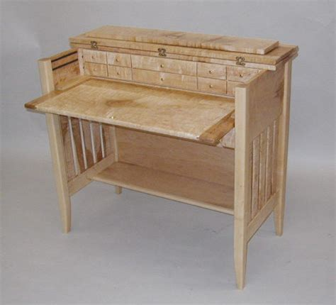 custom designed quilted maple fly tying desk