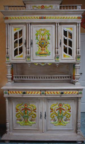 meuble cuisine buffet vaisselier peint meuble relooké