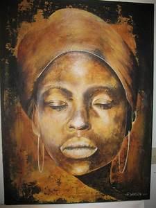 Peinture Visage Femme : visage d africaine peinture idee projet pinterest peinture portrait femme et africaine ~ Melissatoandfro.com Idées de Décoration