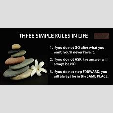 Three Simple Rules In Life Quotes