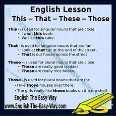 Thisthatthesethose  My English  English Lessons, Teaching English, Dan Learn English