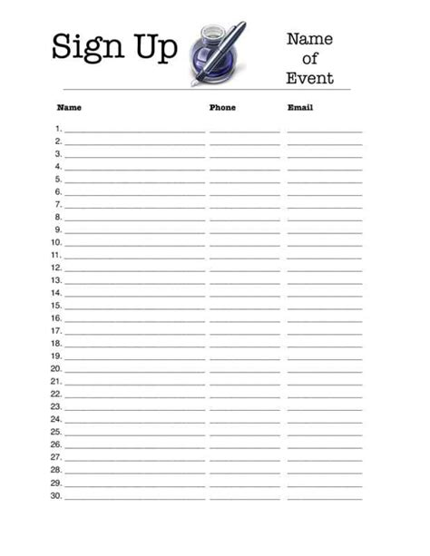 signup sheet template charlotte clergy coalition