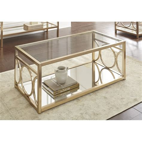 gold glass top coffee table steve silver olympia glass top coffee table in gold chrome