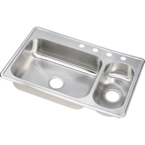 dayton kitchen sink glacier bay all in one dual mount stainless steel 33 in 2 3106
