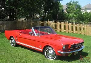 1965 Ford Mustang Convertible Red on Red 3 Speed White Top Former Trophy Winner