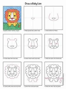 Draw A Baby Lion  U00b7 Art Projects For Kids