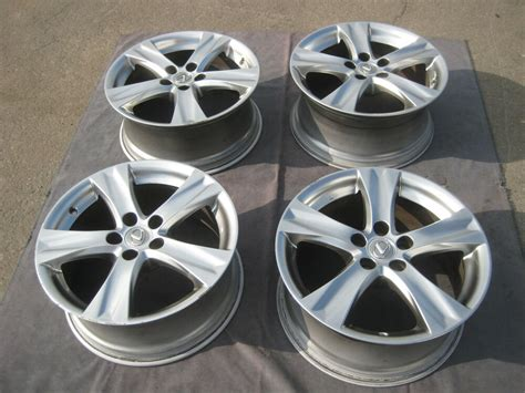 set of 4 used factory 18 quot lexus is350 is250 covertible oem