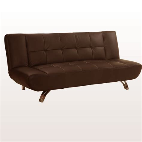 modern sofa legs vogue 3 seater sofa bed faux leather w chrome legs