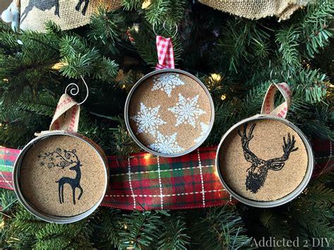easy embossed mason jar lid ornaments