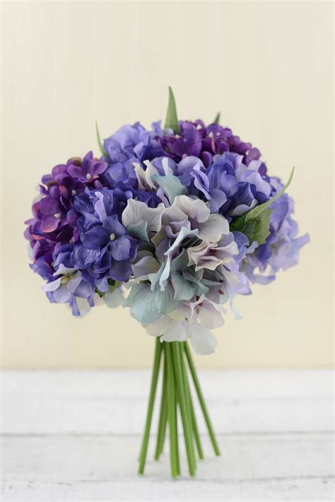 hydrangea bouquets hydrangea bouquet purple 9 5in
