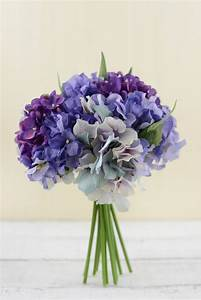 Hydrangea Bouquet Purple 9.5in