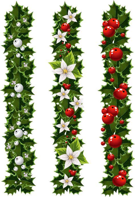 green christmas garland  mistletoe vector ai svg