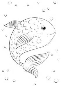 Cartoon Fish Coloring Pages Printable