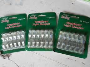 christmas light hangers hooks holders gutters outdoor clips sterling metal 3 set outdoor