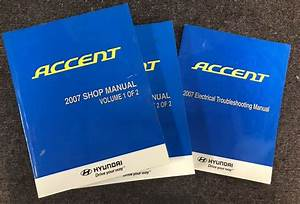 2007 Hyundai Accent Service Oem Shop Manual Electrical