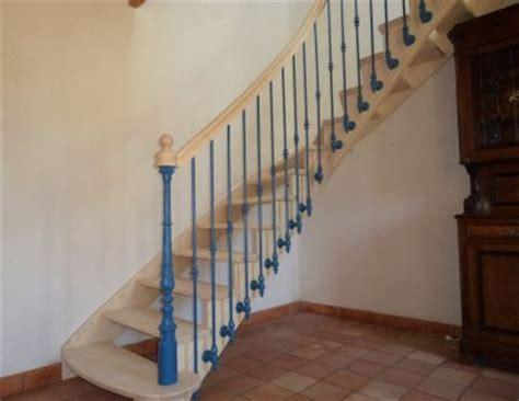 escalier traditionnel fer forg 233 sur mesure bretagne
