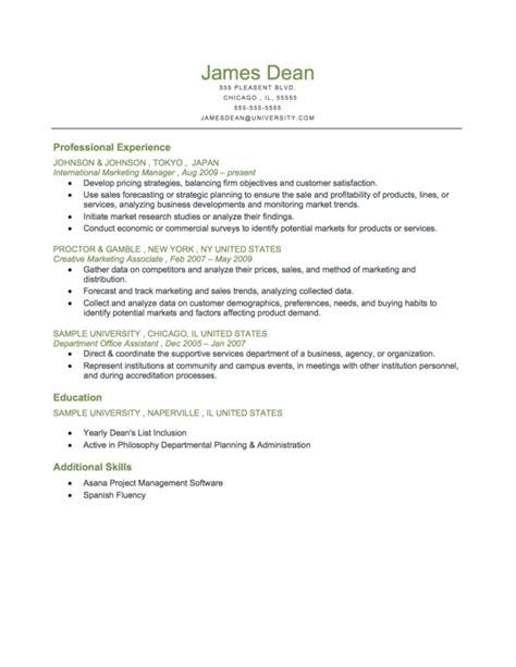Chronological Resume Sle For Fresh Graduate pin by resume genius on resume sles chronological