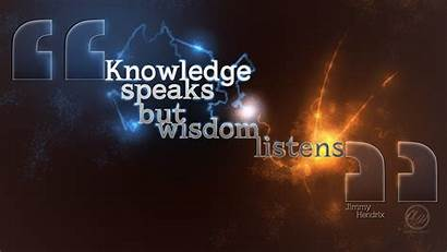 Wisdom Quotes Listens Knowledge Wallpapers Sayings Words