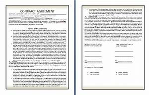 qualified contract agreement template example in two page With contractor terms and conditions template