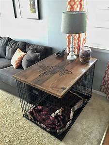 39direwolf39 dog crate table top check out the full project With 2 room dog crate