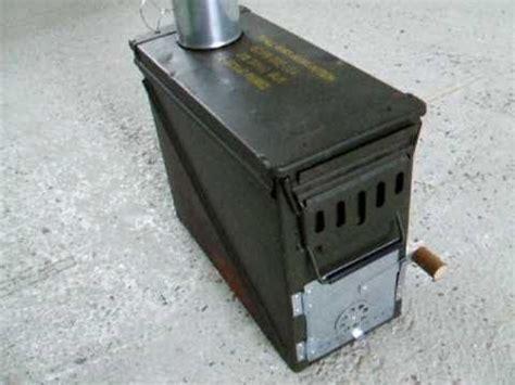 ammo box wood stove  youtube wasteland weekend