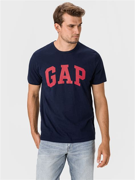 GAP blue men´s t-shirt with logo - Men's T-Shirts • Differenta.com