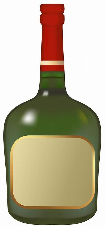 Bottle Liquor Clipart Booze Glass Bottles Liqueur