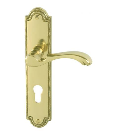 poignee de porte en laiton 1 2 poign 233 e de porte d entr 233 e style quot anglais quot 224 droite laiton poli 1001poign 233 es sas vipaq