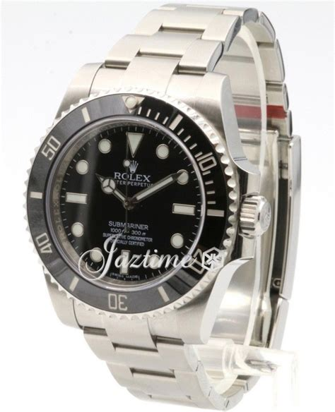 Rolex Submariner 114060 No Date 40mm Black Dial Stainless ...