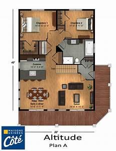 altitude maisons usinees cote plans maison pinterest With plan de maison antillaise