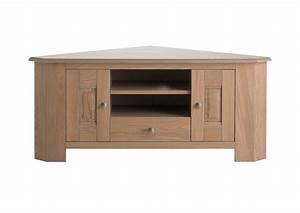Meuble Chene Gris : acheter votre meuble t l angle ch ne gris portes tiroir et niche chez simeuble ~ Teatrodelosmanantiales.com Idées de Décoration