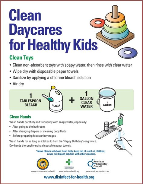 care and clean clean daycares for healthy kids disinfect for health sanitizing disinfecting solutions