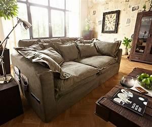 Kissen Für Sofa : hussensofa noelia 240x145 cm braun couch mit kissen m bel sofas big sofas ~ Frokenaadalensverden.com Haus und Dekorationen