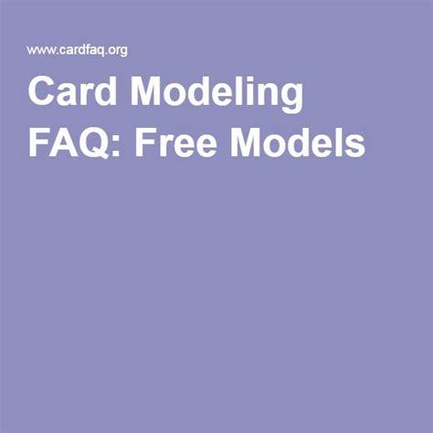 card modeling faq  models  images card model