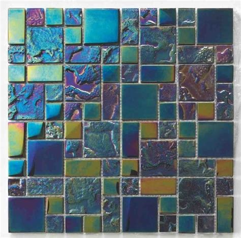 glass mosaic pool tile black sand mineral tiles