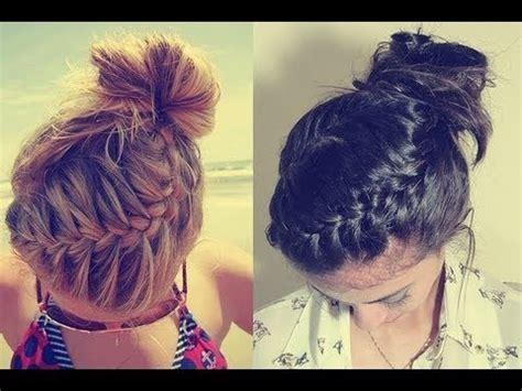 braided bun updo tutorial  long  medium hair