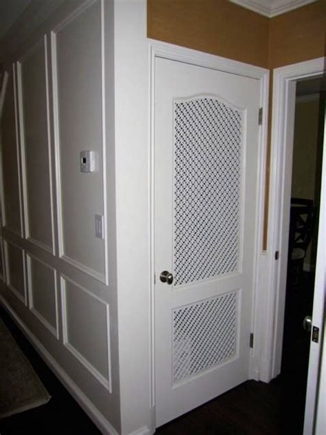 cool idea custom vent panels   pantry door