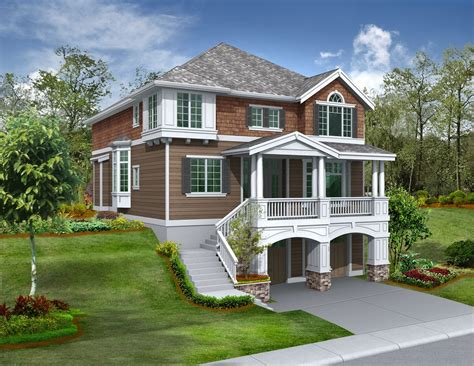 front sloping lot jd architectural designs