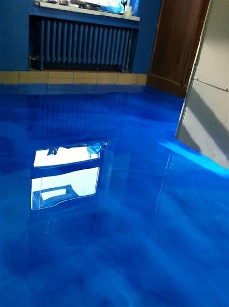 metallic epoxy flooring    water