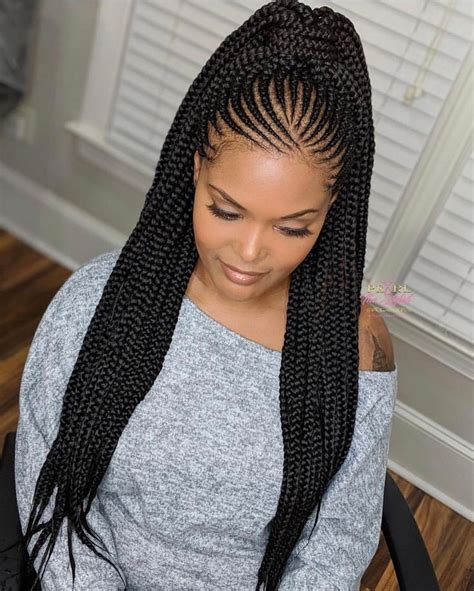 black girl box braids afro textured hair  stylevore